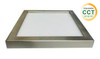 """6"""" Square LED Slim Surface Mount Downlighting, Dimmable, 15W, 600 Lumens, Colour Adjustable Between 3000K, 4000K and 5000K, CRI 80 Damp/Wet listed, Brushed Nickel Finish"""