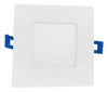 "4"" Square LED Slim Profile Recessed Downlight, Dimmable, 9W, 5CCT(2700k, 3000K, 3500K, 4000K, 5000K) Adjustable, 600 Lumens, CRI 90, Wet Location"