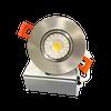 "3"" Round LED Downlight Recessed Gimbal, 8W, 600 lumens, 3000K, Trim 3"" Brushed Nickel"