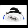 "4"" LED Gimbal Recessed Light,11W, 3000K, 1000 Lumens, CRI 80, White Finish"