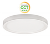 """7"""" Round LED Slim Surface mount downlighting  colour adjustable between 3000K, 4000K and 5000K dimmable 15W 900 Lumens CRI 80 Damp/Wet listed white finish"""