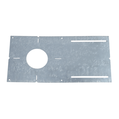 "3"" new construction pre-mounting plate with collar for use with screw down îCî style remodel housings"