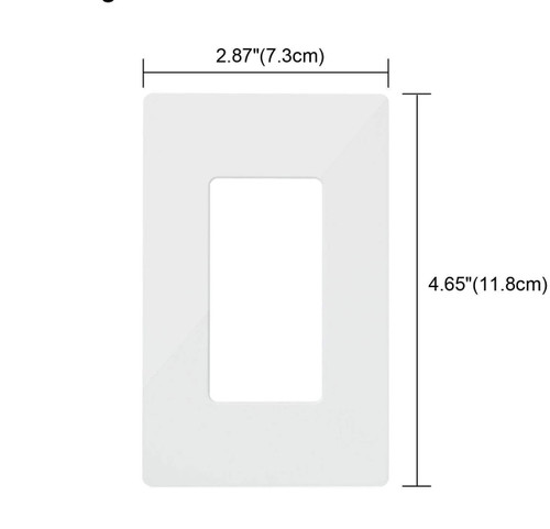 crewless Wall Plate Outlet Covers, 1 Gang Mid Size, Compatible with GFCI Outlet, USB Receptacle and Decor Light Switch, UL Certified, White