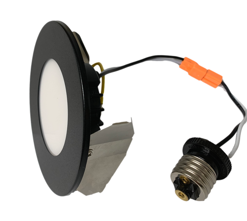 """4"""" 5CCT Multiple Application Recessed Light with Interchangeable black magnetic trims 8W 500Lumen 80CRI Dimmable 50000Hours cETLus 5-year Warranty"""