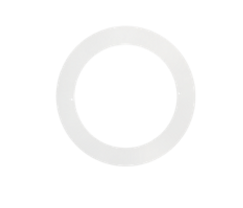"Goof ring for 4"" round slim panel white finish"