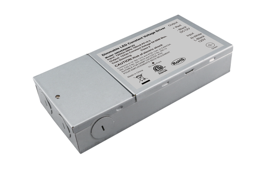 Constant Voltage Triac Dimmable Driver 60W 12VDC 108-132VAC 5A Class 2