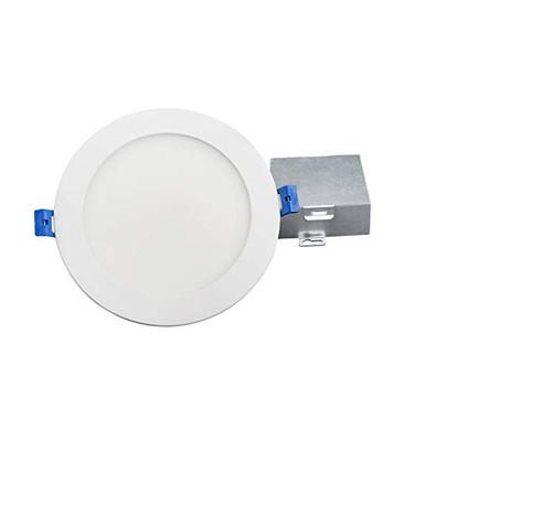 "6"" Round LED Slim Profile Recessed Downlight, Dimmable, 14W, 900 Lumens, CRI 90, 5CCT Adjustable(2700K, 3000K, 3500K, 4000, 5000K), Wet Location, White finish"