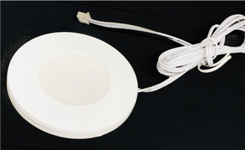 Round Ultra Slim LED Puck Light  dimmable  2.2W 3000K CRI90 150 Lumens  white finish