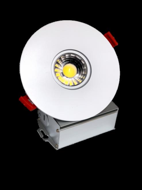 "3"" LED Downlight Recessed Gimbal, 8W, 600 lumens, 3000K, Trim 4"" Round WH"