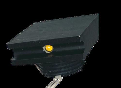 Square Mini Step and Wall Edge Light, 1W, 3000K ,31 Lumens, 12V,  Black Finish