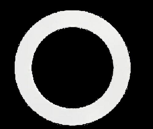"Goof Ring for 6"" Round Slim Panel, White Finish"