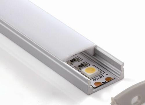 Silver anodized aluminum profile Size:W17*H09*2000mm