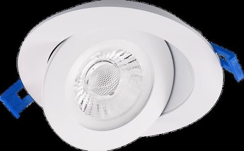 "3.5"" LED Floating Gimbal Light, 6W, 500 Lumen, Color Adjustable(2700K, 3000K, 3500K, 4000K and 5000K), CRI90, Wet Location,White Finish"