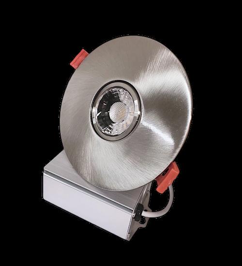 "3"" Round LED Downlight Recessed Gimbal, 8W, 600 lumens, 3000K, Trim 4"" Brushed Nickel"