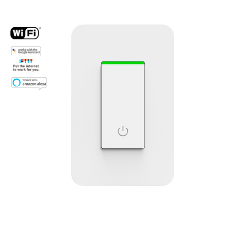 Smart Light Switch, Smart Wifi Light Switch with Remote Control and Timer, Works with Alexa, Google home and IFTTT, No Hub required, Easy and Safe installation, ETL listed (1pack) KS-602S