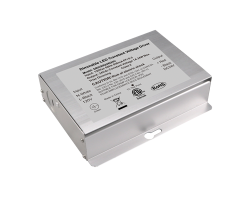 Constant Voltage Triac Dimmable Driver 24W 24VDC 108-132VAC 2A Class 2