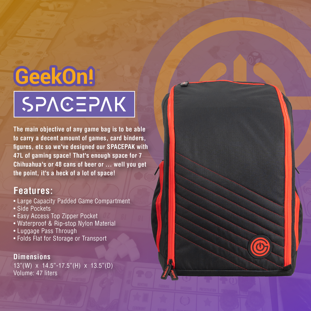 SpacePak Boardgame Backpack