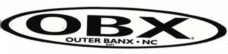 OBX Black and Clear Sticker