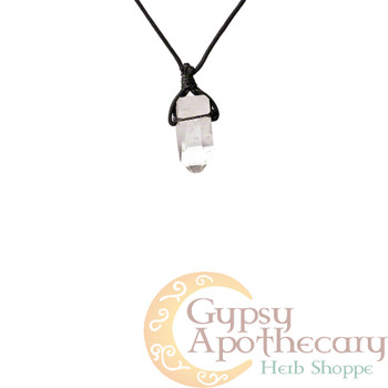 Black Obsidian Wire Wrap Pendant Necklace - Gypsy Crystals Herb