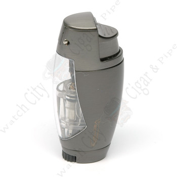 "Vector ""Cyborg"" Single Lighter Gunmetal Satin"