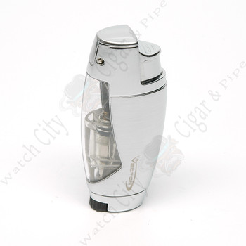 "Vector ""Cyborg"" Single Lighter Hi-Polish Chrome"