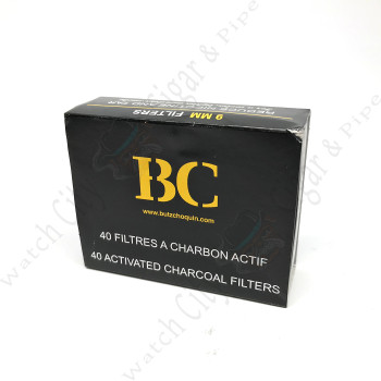 "9mm Butz Choqin ""Charcoal"" Pipe Filters"