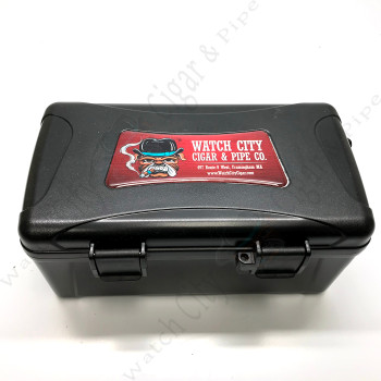 "Xikar ""Travel Humidor"" 15 Capacity Black (Watch City Logo)"