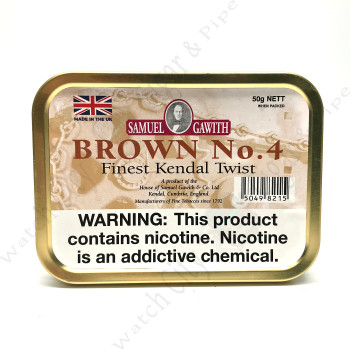 "Samuel Gawith ""Brown #4 Finest Kendal Twist"" 50gr Tin"