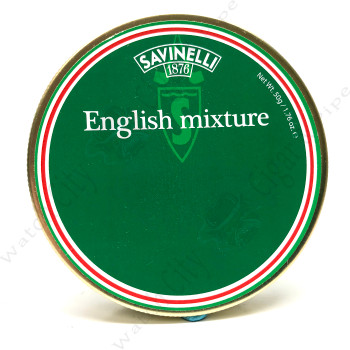 "Savinelli ""English Mixture"" 50g Tin"