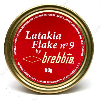 """Brebbia """"Latakia Flake No.9"""" 50g Tin"""