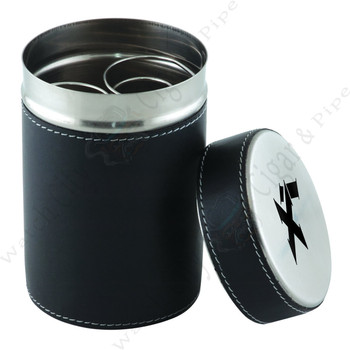 "Xikar ""Executive Ashtray Can""  (Black Leather)"