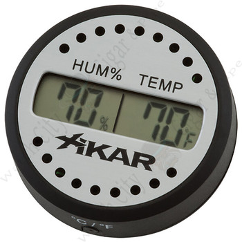 "Xikar ""Purotemp"" Round Digital Hygrometer"