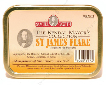 Samuel Gawith St. James Flake (Mayor's Collection)  50g Tin