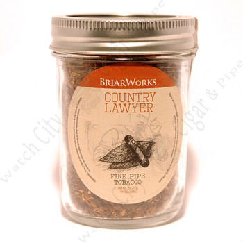 "Briarworks Tobacco ""Country Lawyer"" 2 oz Mason Jar"