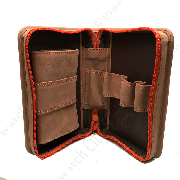 4th Generation 3-Pipe Zip Case with Pouch (Hunter Brown)