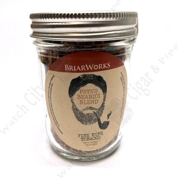 "Briarworks Tobacco ""Pete's Beard's Blend"" 2 oz Mason Jar"