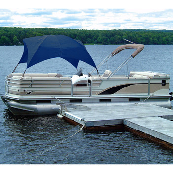 "Pontoon Boat Easy Up Privacy Partition Enclosure 30/"" X 30/"" X 70/"" Grey Polyester"