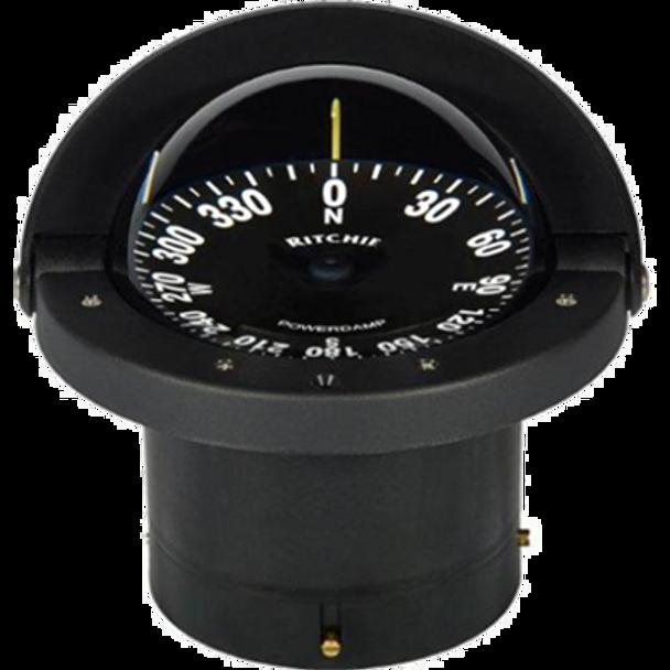 """Compass, Flush Mount, 4.5"""" Dial, Black - 10348"""