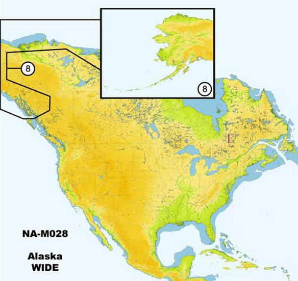 C-MAP NA-M028 Max Wide C Card Alaska - 30134