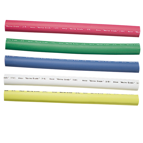 """Ancor Adhesive Lined Heat Shrink Tubing - 5-Pack, 6"""", 12 to 8 AWG, Assorted Colors  [304506]"""
