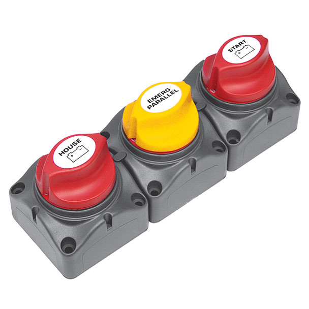 BEP Battery Distribution Cluster f\/ Single Engine w\/ Two Didicated Battery Banks - Vertical Mount  [715-V]
