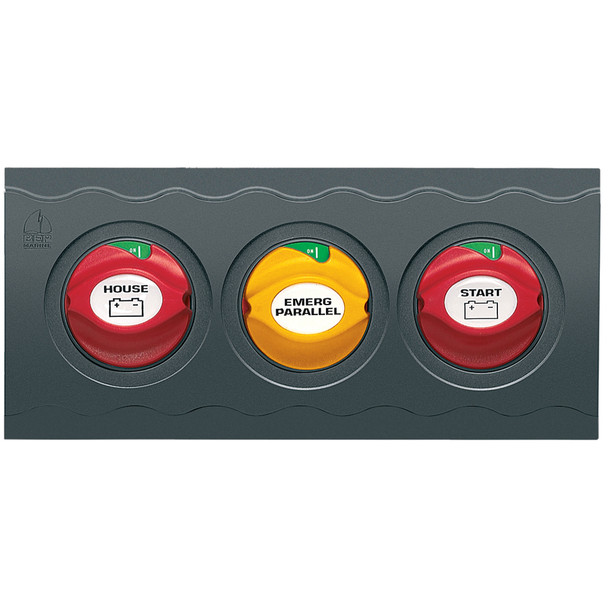 BEP Contour Connect 3 Battery Switch Panel w\/ 3 Disconnects  [CC-810]