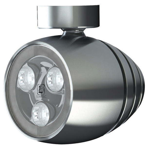 Lumitec Octane - LED Tower\/Speader Light - Brushed Finish - White Non-Dimming  [101330]