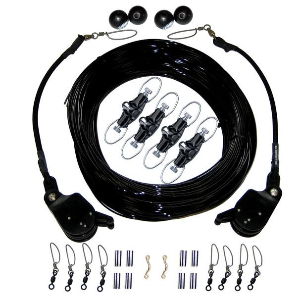 Rupp Double Rigging Kit w\/Lok-Ups & Nok-Outs - 260' Black Mono  [CA-0175-MO]