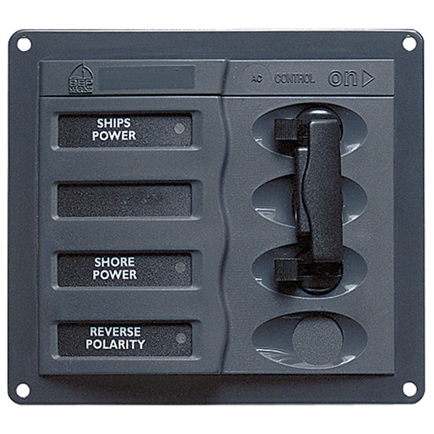 BEP AC Circuit Breaker Panel without Meters, Double Pole Change Over Panel  [900-ACCH-110V]