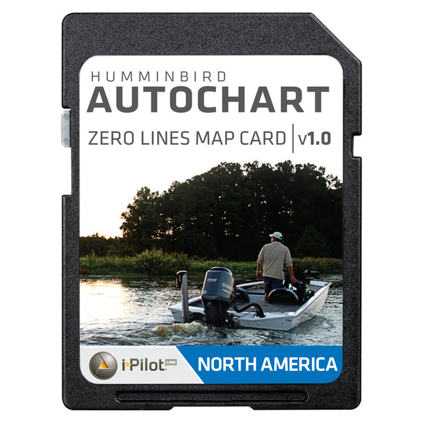 Humminbird AutoChart Zero Lines Map Card  [600033-1]