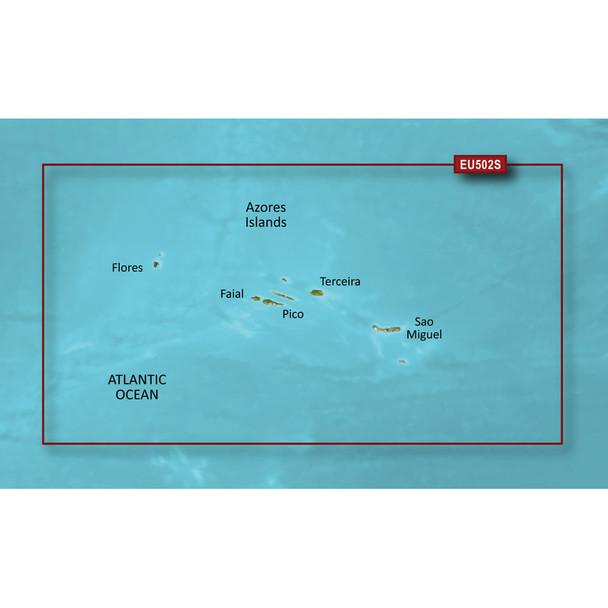 Garmin BlueChart g2 Vision HD - VEU502S - Azores Islands - microSD\/SD  [010-C0846-00]
