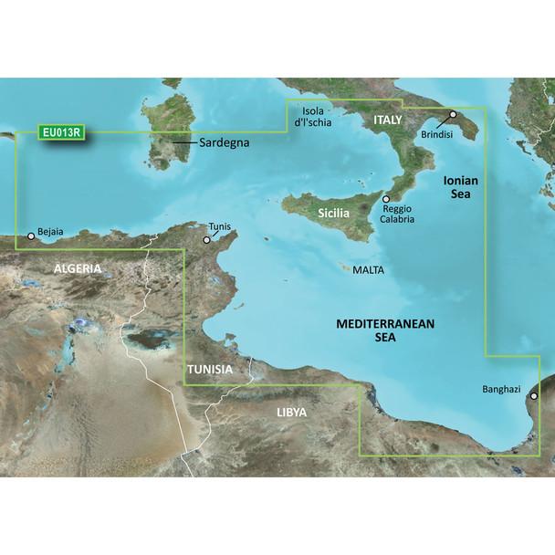 Garmin BlueChart g2 HD - HXEU013R - Italy Southwest & Tunisia - microSD\/SD  [010-C0771-20]