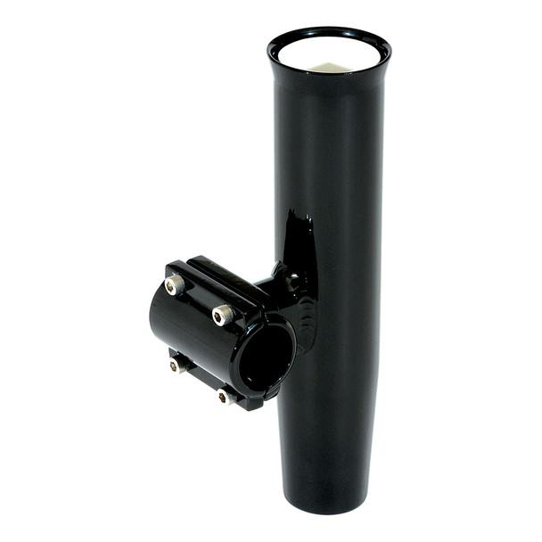 "Lee's Clamp-On Rod Holder - Black Aluminum - Horizontal Mount - Fits 1.660"" O.D. Pipe  [RA5203BK]"