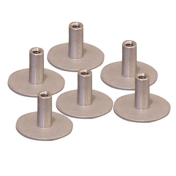 """Weld Mount Stainless Steel Standoff 1.25"""" Base  1\/4"""" x 20 Thread .75    Tall - 6-Pack  [142012304]"""